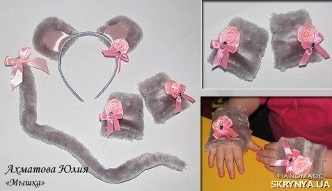 Как сделать ушки мышки своими руками 59