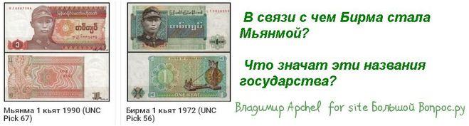 В связи с чем Бирма стала Мьянмой?   Что значат эти названия государства?