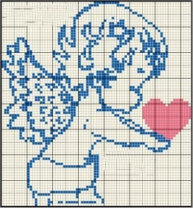 ангел с сердцем вышивка крестиком