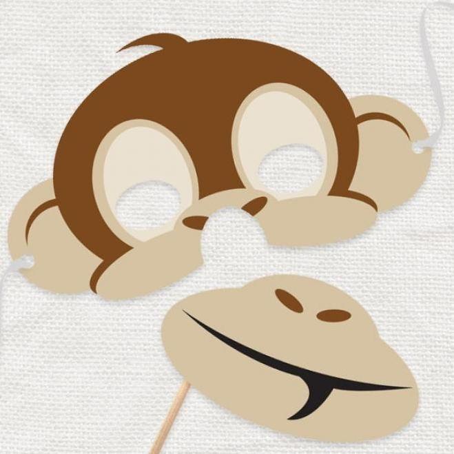 Сделать маску обезьянки своими руками
