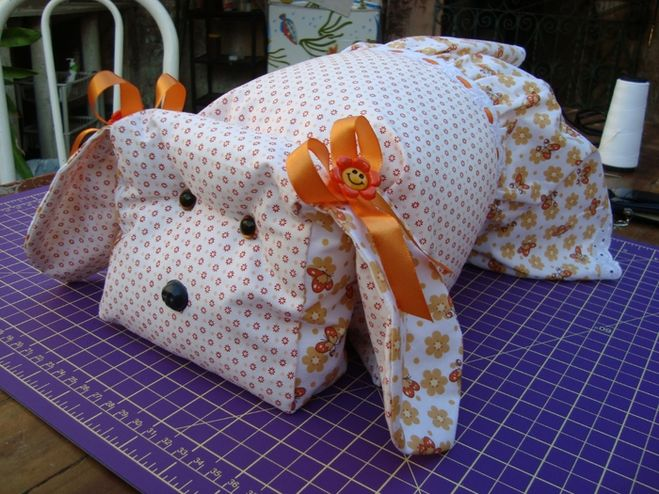 подушка собачка из хлопка