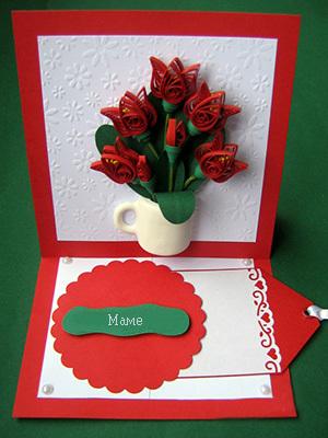 открытка квиллинг для мамы из бумаги своими руками
