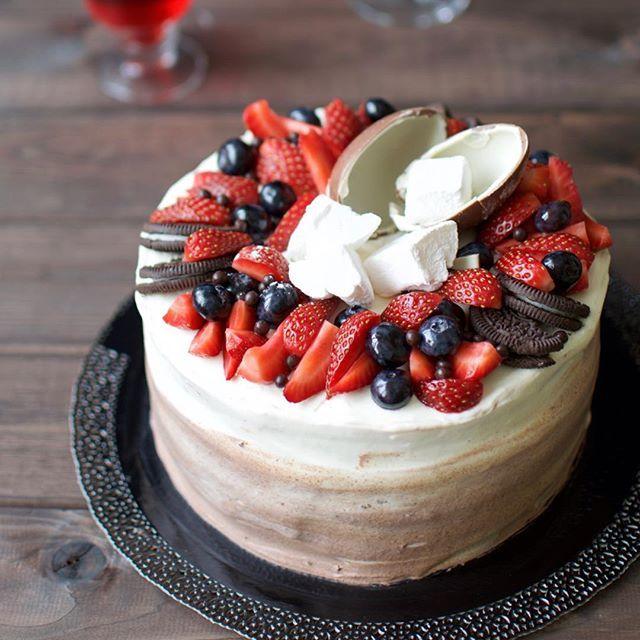 Украшение торта цукатами