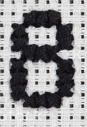 """ручная вышивка цифра """"8"""""""
