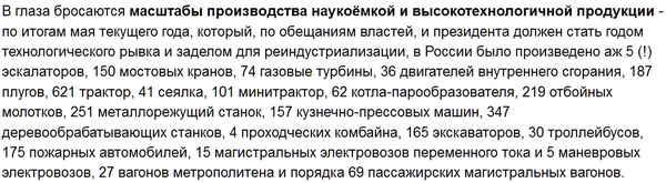 промышленность России