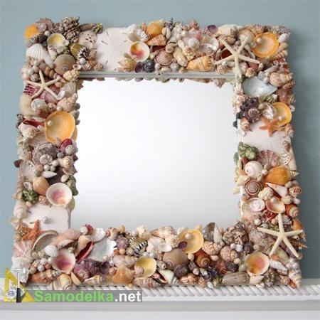 Поделка рамок из ракушек 693