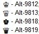 Как сделать символы короны на клавиатуре