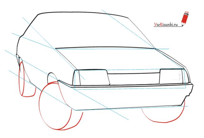 Машина ваз рисовать карандашом 131