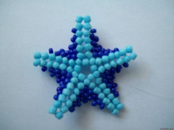 Как сделать звезду из бисера фото 67