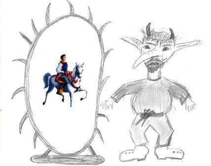 Где смотреть детские рисунки тролля из сказки «Снежная королева»?