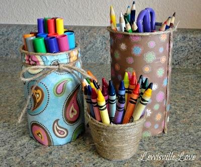 Как сделать своими руками стакан для карандашей