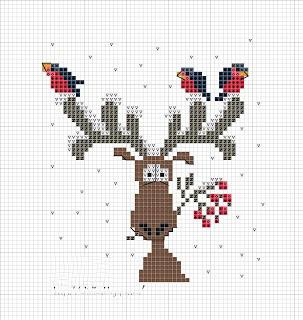 Схемы вышивок крестиком с оленями