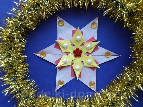 Поделка вифлеемская звезда и рождество 15