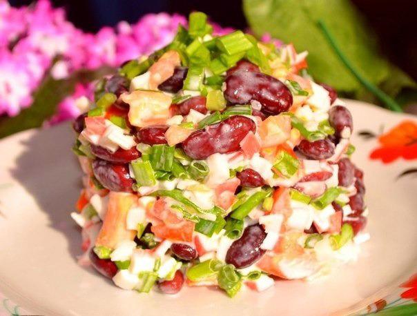 Рецепты салатов с фасолью фото