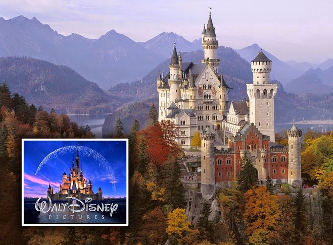 Есть ли в действительности замок из заставки Уолт Диснея? Где он находится?