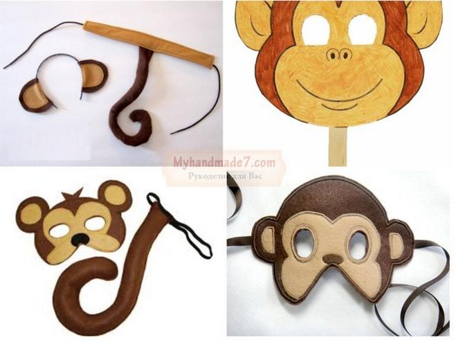 Костюм обезьяны сделанный
