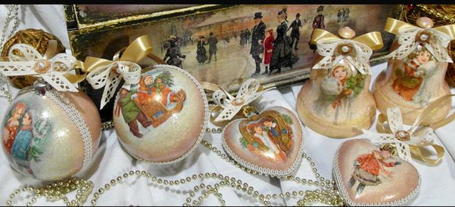Новогодняя игрушка в стиле 19 века своими руками