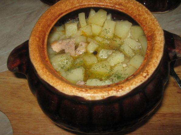 Как сделать картошку с мясом в горшочках