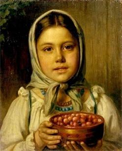 Рачков Девочка с ягодами описание костюма