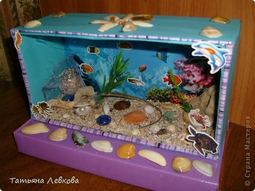 Поделка Аквариум с рыбками своими руками. Мастер-класс с 54