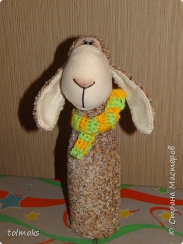 Чехол на бутылку овечка