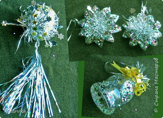 Новогодние украшения своими руками из пластиковых бутылок