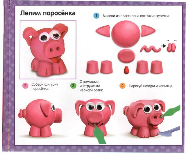 Как сделать из пластиковых бутылок свинку пошагово