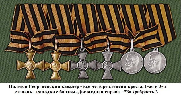 георгиевские кресты и медали