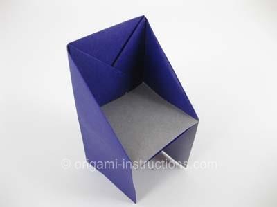 515d429f3694 Как сделать стул (стульчик) из бумаги (оригами)?