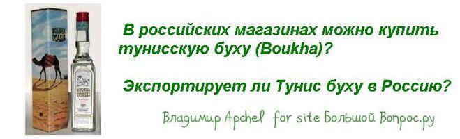 В российских магазинах можно купить тунисскую буху (Boukha)?   Экспортирует ли Тунис буху в Россию?
