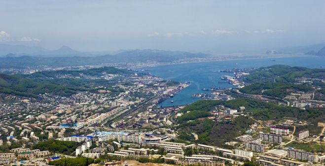 панорама города Находка, история названия города Находка