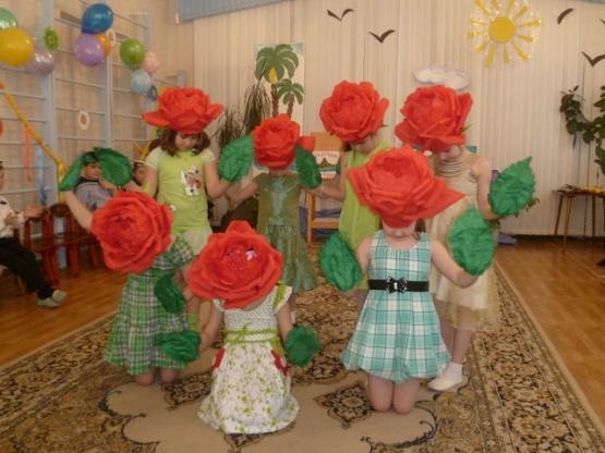 Костюм розы своими руками фото