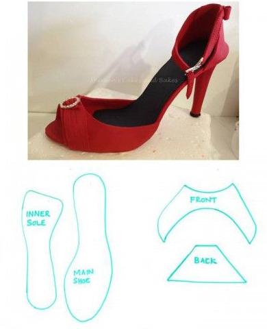 как приготовить туфельку из мастики