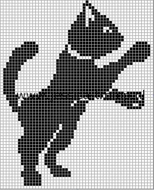Схемы для вышивки коты черно белые