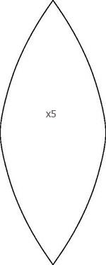 фигура-лепесток для шара из текстиля