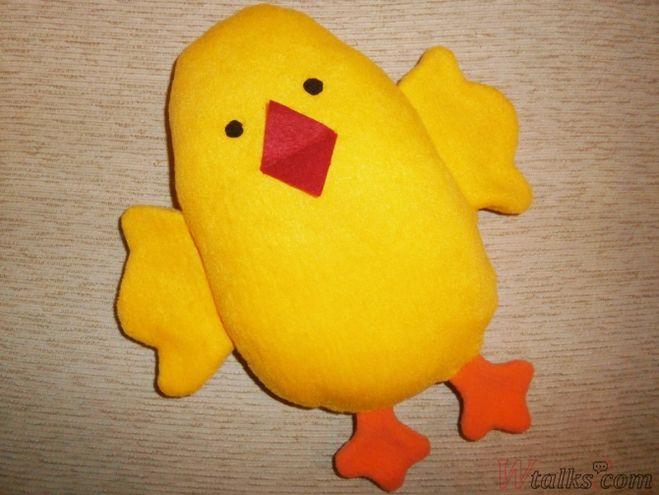 подушка цыпленок