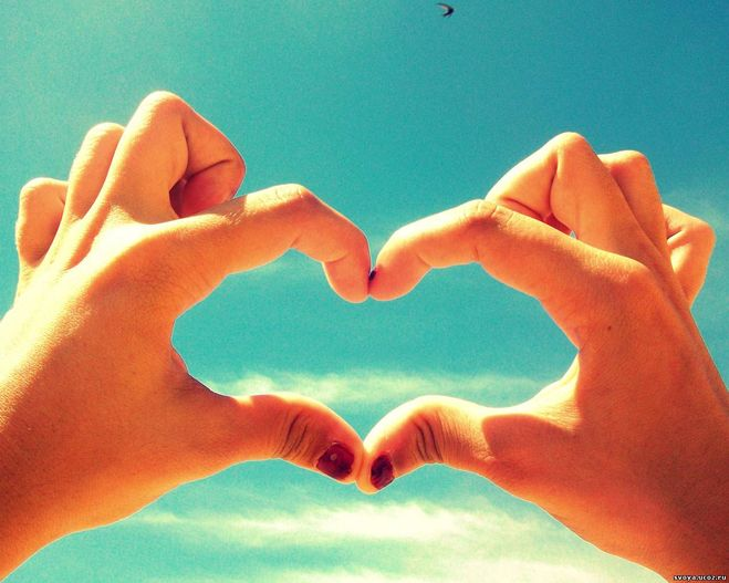 Как сделать из пальцев рук сердце 20