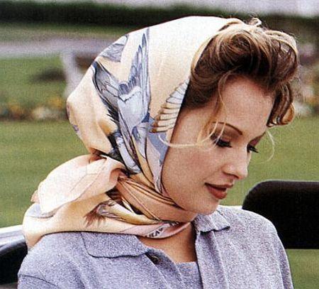 платок вместо шапки
