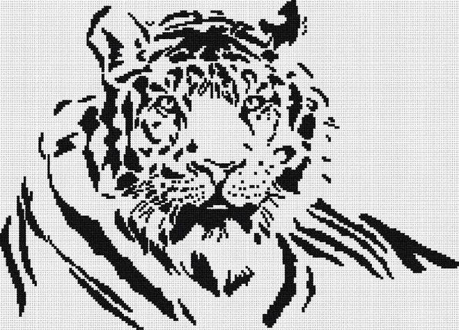 Узор тигр спицами схемы