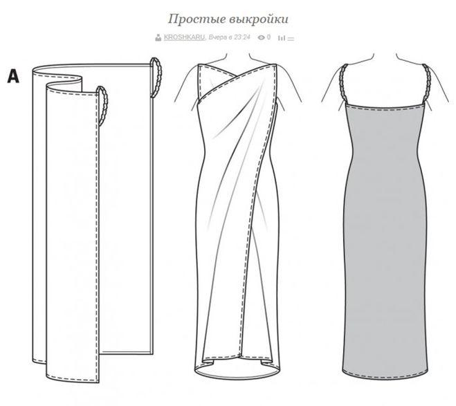 Как сшить быстро платье без выкройки
