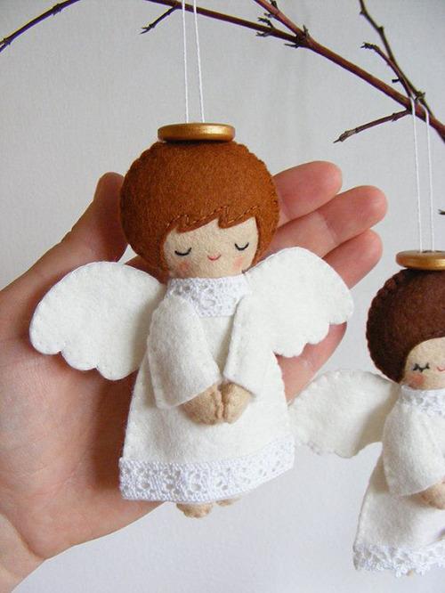 Текстильные ангелы - примитивы с выкройками от простого ангела-скрутки