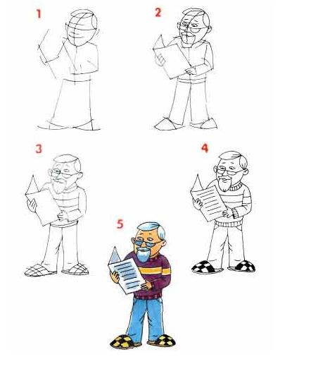 Рисунок для дедушки на день рождения поэтапно