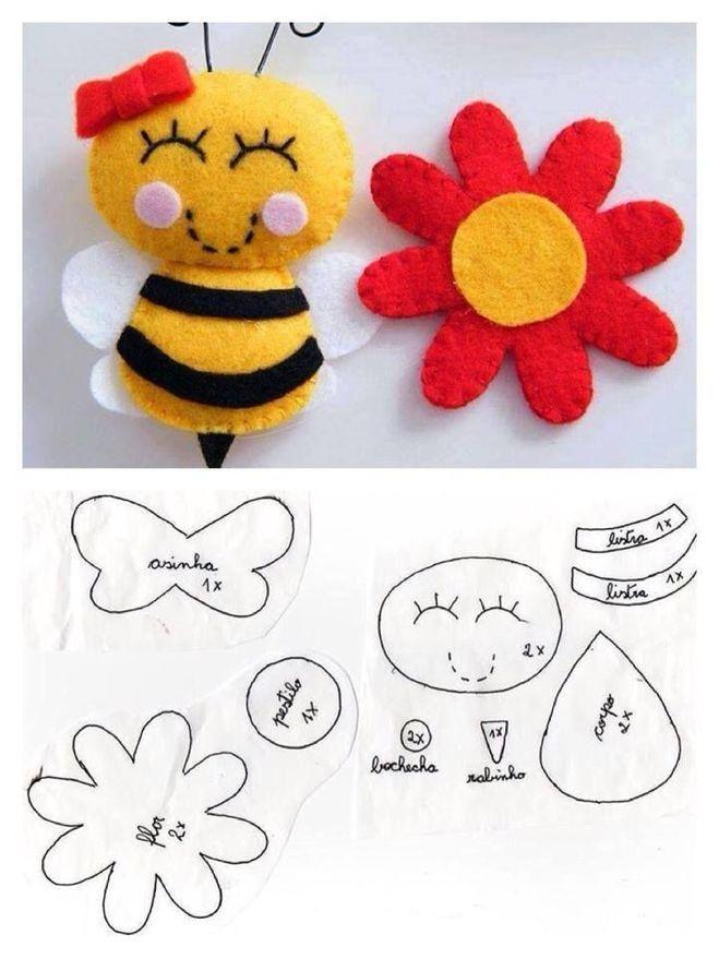 Как связать пчелку своими руками