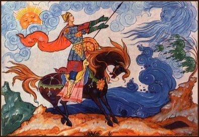 """Какой рисунок нарисовать к """"Сказке о мёртвой царевне и семи богатырях"""" ."""