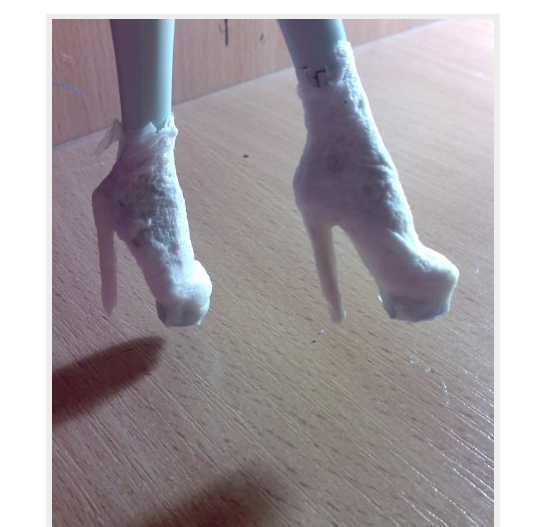 Как сделать туфли для кукол фото