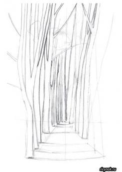 Как нарисовать лавочку поэтапно карандашом