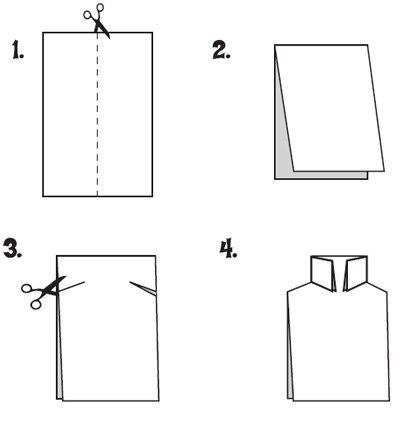 Открытка рубашка как сделать
