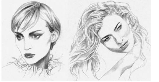 Как нарисовать волосы поэтапно карандашом