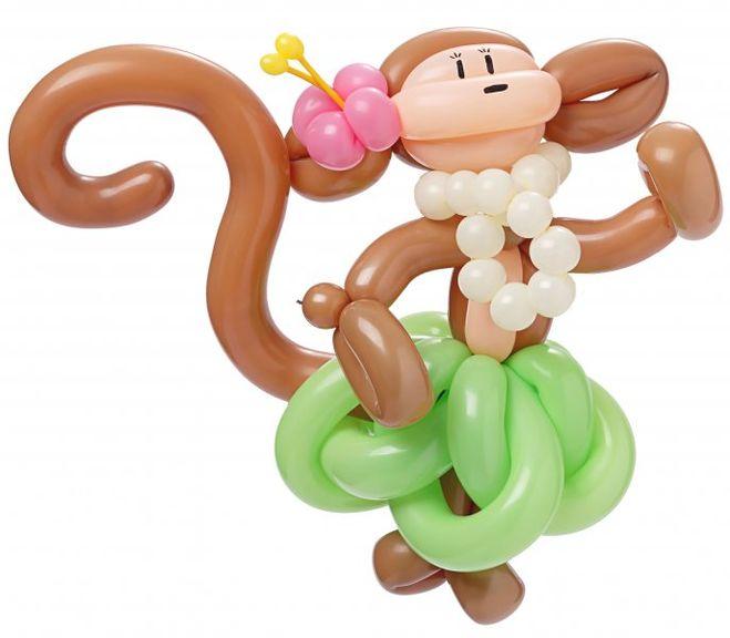 Обезьянка из шариков своими руками