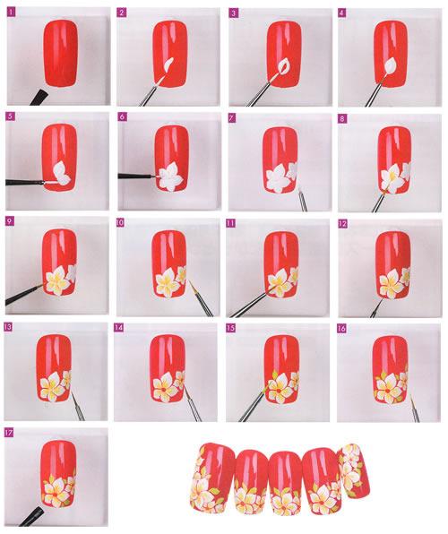 Узоры на ногтях пошагово для начинающих